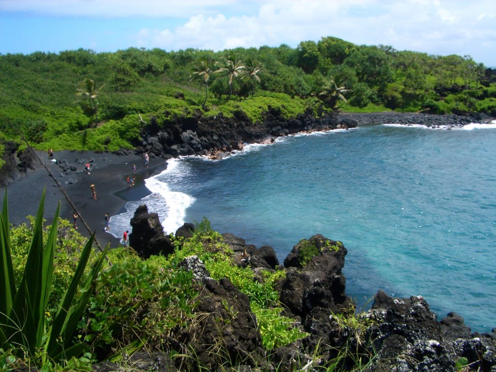 HAWAII COSA VEDERE Waianapanapa State Park, HANA ROAD MAUI