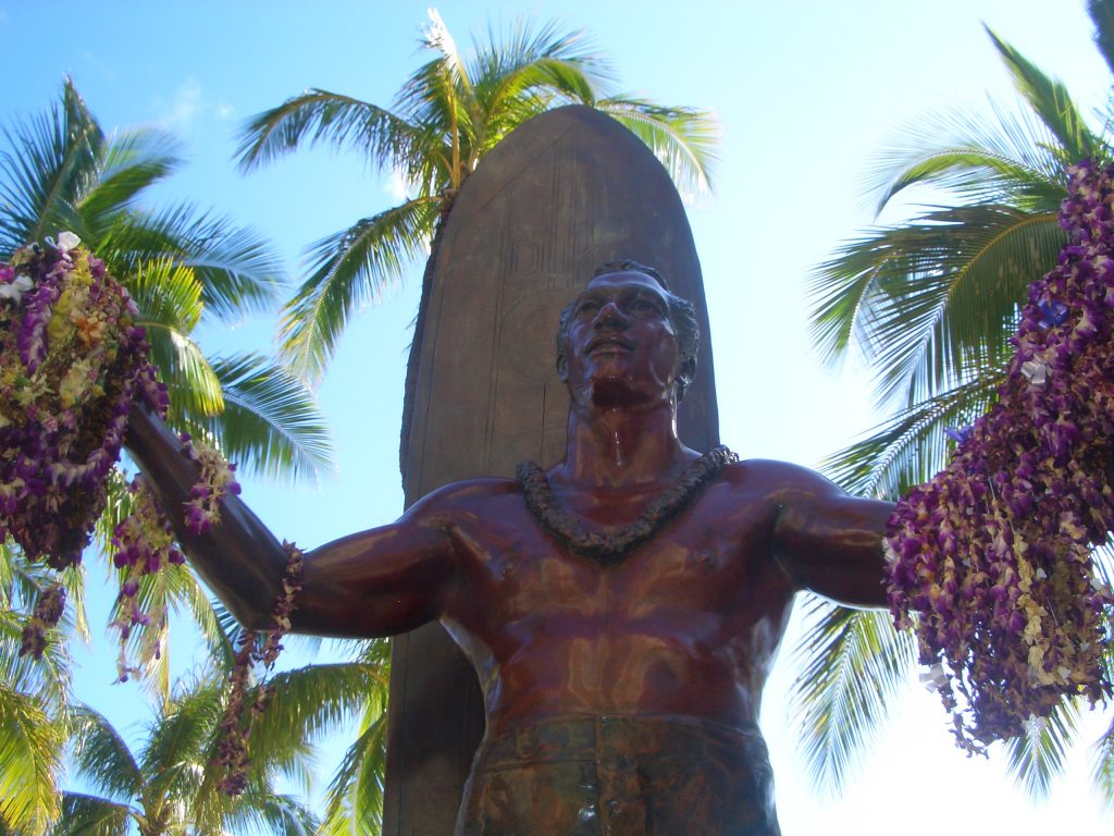 waikiki beach oahu, hawaii, STATUA DI DUKE PAOA