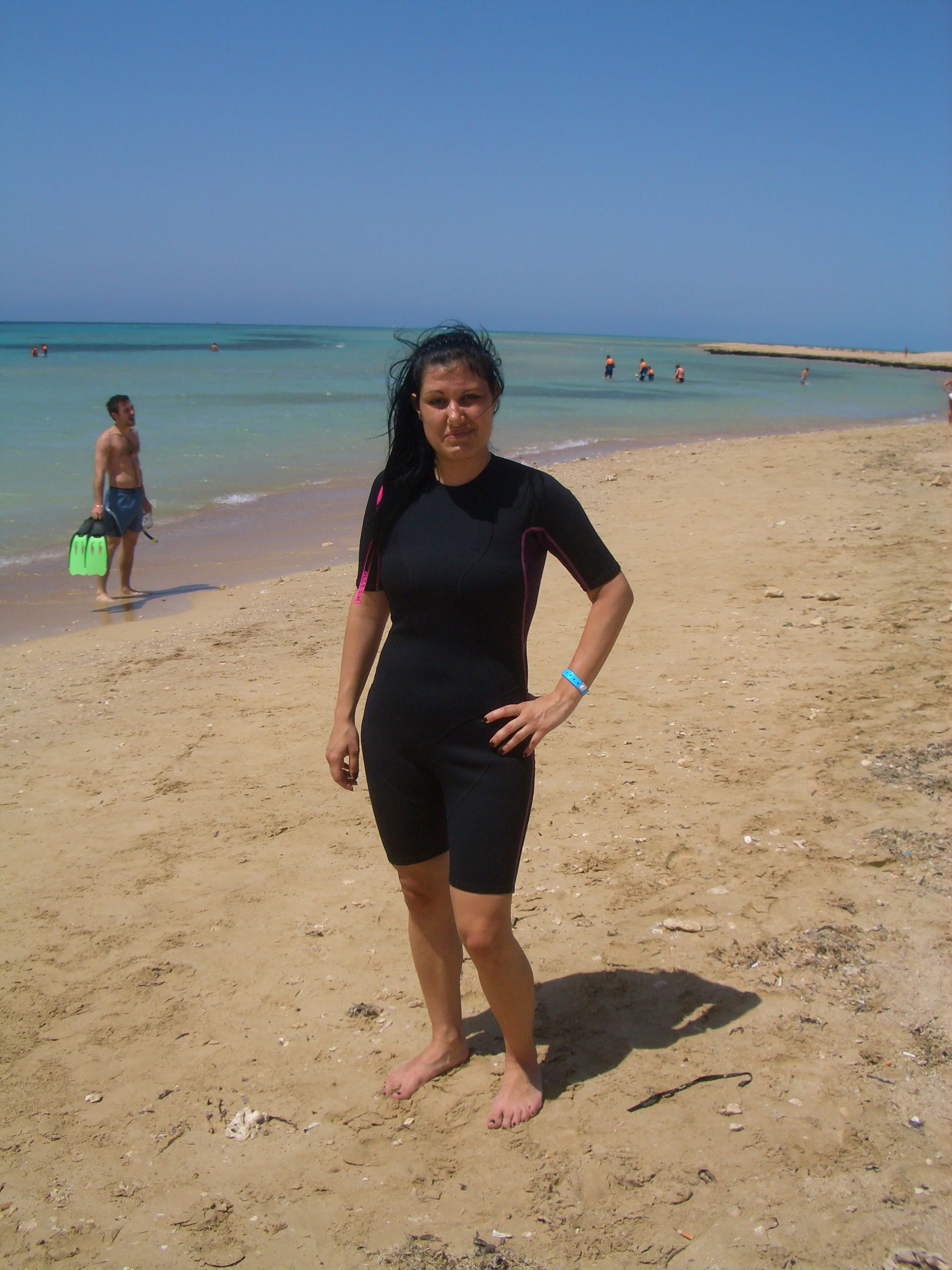 Annalisa a Ras Mohamed in muta da sub, Sharm El Sheikh mare