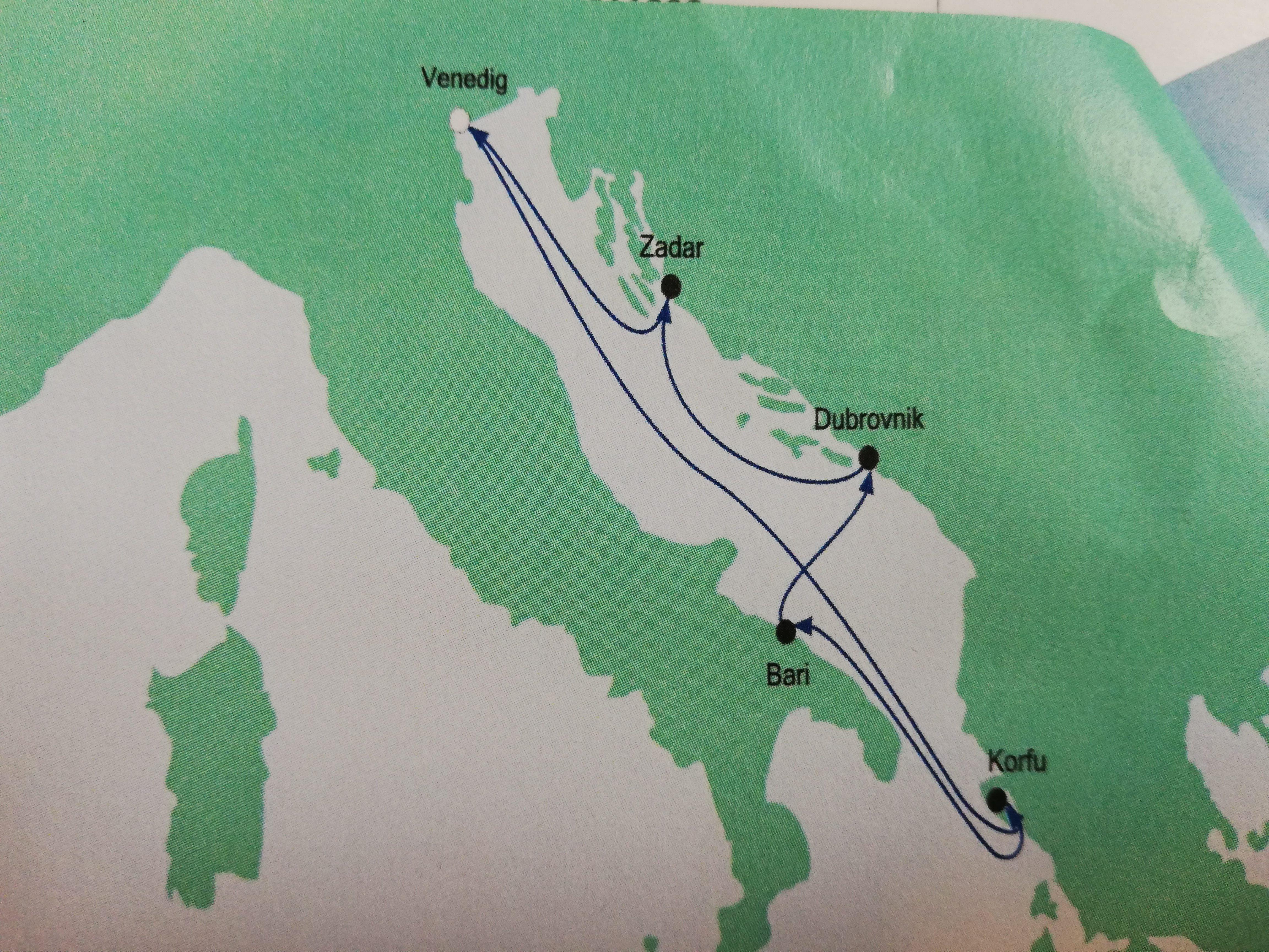 crociera nel Mediterraneo le tappe