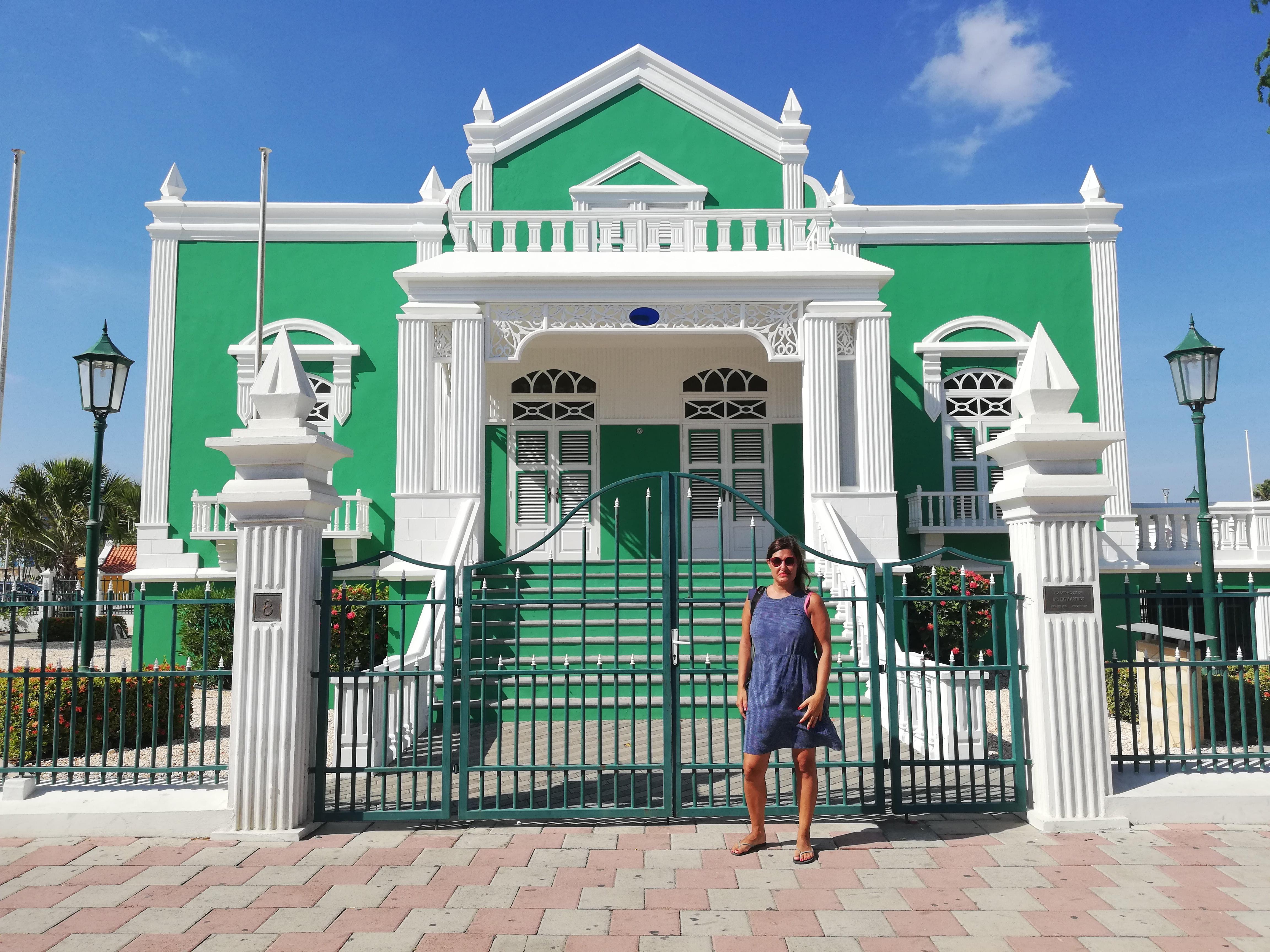 ORANJESTAD CAPITALE DI ARUBA, Civil Town House edificio VERDE dove ci si sposa ad aruba